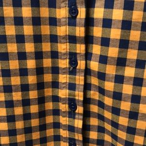The Shirt by Rochelle Behrens Tops - The Shirt Icon Shirt in Gold Check